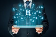 Zarządzanie danymi i prywatność zdjęcie stock
