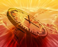 zarządzanie globalny czas Zdjęcie Stock