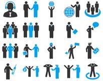 Zarządzanie i ludzie zajęcie ikony setu Obraz Stock