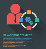 Zarządzanie projektem ikona, zarządzanie strategii ikona Zdjęcie Stock