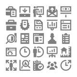 Zarządzanie Projektem Wektorowe ikony 1 Obrazy Stock
