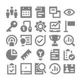 Zarządzanie Projektem Wektorowe ikony 3 Obrazy Stock