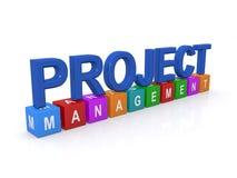 Zarządzanie projektem znak Zdjęcie Royalty Free