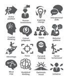 Zarządzanie przedsiębiorstwem ikony Paczka 19 ilustracja wektor