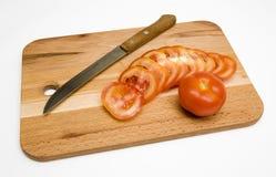 zarząd pokrojeni pomidorów fotografia stock
