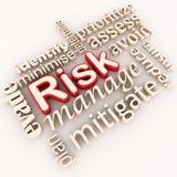 zarządzania ryzyko Obraz Stock