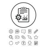 Zarządzanie projektem ikona Raportowy dokumentu symbol Zdjęcie Stock