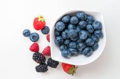 Zarzamoras de las fresas de las frambuesas de los arándanos fotos de archivo libres de regalías
