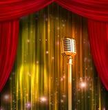 zasłona klasyczny kolorowy mikrofon ilustracja wektor