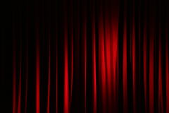 Zasłona w theatre obrazy stock