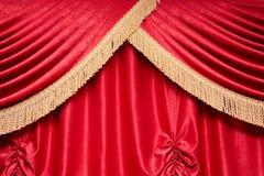 zasłony czerwień obrazy royalty free