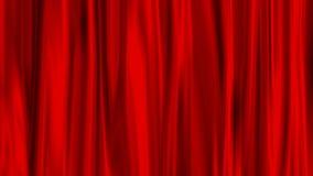 zasłony czerwień Fotografia Stock