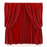 zasłony czerwień Obraz Royalty Free