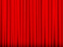 zasłony czerwień Zdjęcie Stock