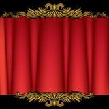 zasłony czerwień royalty ilustracja