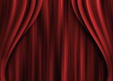 Zasłony czerwień, theatre obrazy royalty free