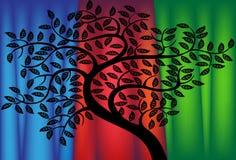 zasłony drzewo ilustracji
