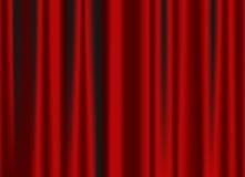 zasłony klasyczna czerwień Zdjęcie Royalty Free