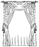 zasłony okno ilustracji