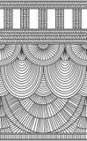 Zasłony pionowo bezszwowy tło Obraz Stock