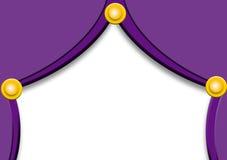 zasłony, purpurowe Zdjęcie Royalty Free
