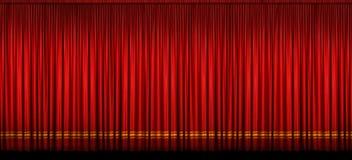zasłony scena wielka czerwona zdjęcie stock