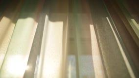 Zasłony w pokoju hotelowym Płytki DOF zbiory wideo