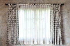 Zasłona i okno Obrazy Royalty Free