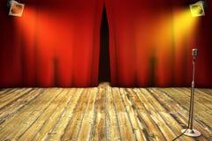 zasłony czerwony sceny theatrical Obrazy Royalty Free