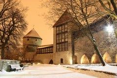 zasłony Tallin stara mur miasta Obrazy Stock
