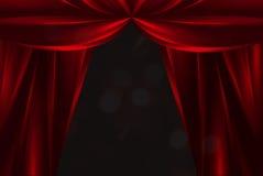 zasłony theatre czerwony jedwabniczy Obraz Stock
