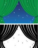 zasłony zieleni ja target1544_0_ Zdjęcie Royalty Free