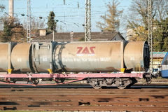 ZAS train. ZAS waggon with their slogan and copy space Royalty Free Stock Photo