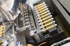 Zasadza obrazek, manufaktura, stalowe chrom maszyny, elektronika obrazy stock