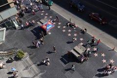 Zasięrzutny widok Hollywood spacer sław gwiazdy przy Hollywood a obrazy stock