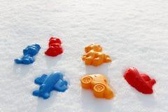 Zasięrzutny widok na kolorowych zabawkach, Obrazy Royalty Free