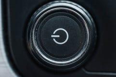Zasila guzika z typowy symbolu znaczenia obracać z przerwami na technice obraz royalty free