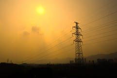 Zasilania elektrycznego wierza Zdjęcia Stock
