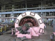 Zasilanie elektryczne generator i parowa turbina podczas naprawy Fotografia Royalty Free
