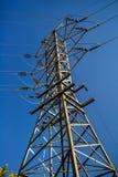 Zasilanie elektryczne linia wierza obrazy royalty free