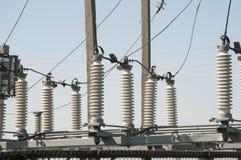 Zasilanie elektryczne podstacja Zdjęcia Stock