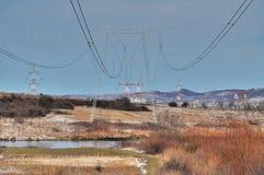 Zasilanie elektryczne przekazu linie Zdjęcie Stock