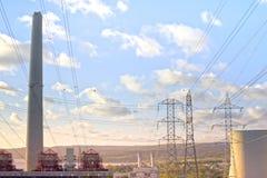 Zasilanie Elektryczne stacja Zdjęcia Stock