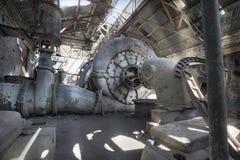 Zasilanie elektryczne stara Zaniechana Stacja Fotografia Royalty Free