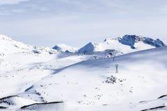 Zasilanie elektryczne wykłada przez Greenland, niedaleki Nuuk Zdjęcie Stock
