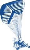 Zasilany parashute royalty ilustracja