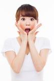 Zaskakująca młoda Azjatycka dziewczyna Zdjęcia Royalty Free