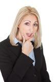zaskakujący bizneswomanu portret zdjęcia royalty free