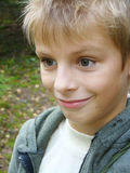 zaskakujący chłopiec portret Fotografia Royalty Free
