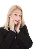 zaskakujący bizneswomanu portret Fotografia Stock